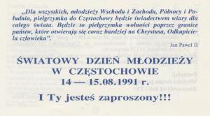 1991, 08 14- 15, ŚDM