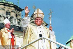 1991, Jan Paweł II, foto Sławomir Sierzputowski